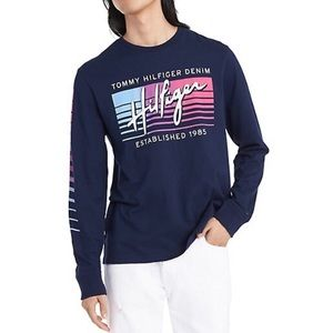 Tommy Hilfiger Denim Graphic Long Sleeve Tee
